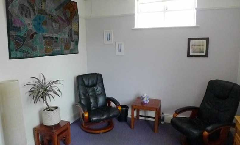 A photo of the counselling room in St Albans Hertfordshire